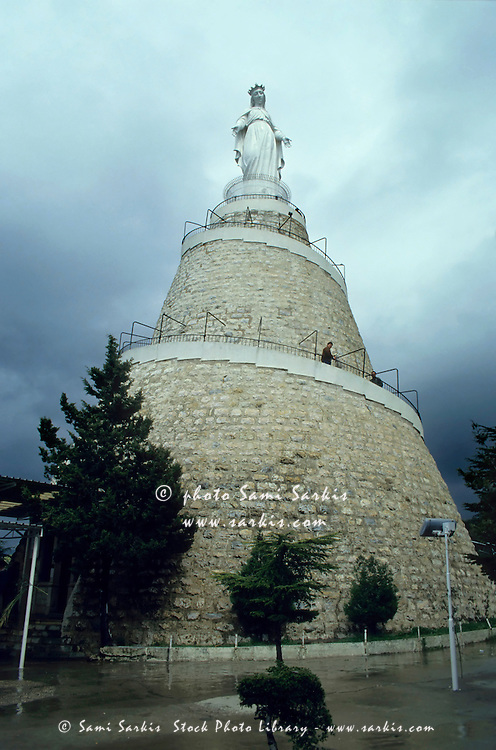 Our Lady of Lebanon statue in Harissa, Beirut, Lebanon.