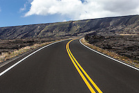 Chain of Craters Road in Hawai'i Volcanoes National Park, Big Island.