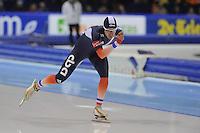 SCHAATSEN: HEERENVEEN: IJsstadion Thialf, 16-11-2012, Essent ISU World Cup, Season 2012-2013, Men 5000 meter Division A, Alexis Contin (FRA), ©foto Martin de Jong