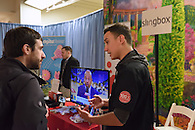 The Slingbox booth.