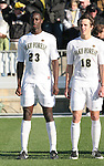 16 December 2007: Wake Forest's Ike Opara (23) and Evan Brown (18). The Wake Forest University Demon Deacons defeated the Ohio State Buckeyes 2-1 at SAS Stadium in Cary, North Carolina in the NCAA Division I Mens College Cup championship game.