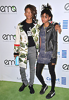 BURBANK, CA. October 22, 2016: Jaden Smith &amp; Willow Smith at the 26th Annual Environmental Media Awards at Warner Bros. Studios, Burbank.<br /> Picture: Paul Smith/Featureflash/SilverHub 0208 004 5359/ 07711 972644 Editors@silverhubmedia.com