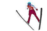 Line Jahr of Norway jumps during the Women's Normal Hill Individual training session of the 2014 Sochi Olympic Winter Games at Russki Gorki Ski Juming Center on February 9, 2014 in Sochi, Russia. Photo by Victor Fraile / Power Sport Images