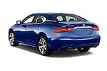 Car pictures of rear three quarter view of 2016 Nissan Maxima S 4 Door Sedan Angular Rear