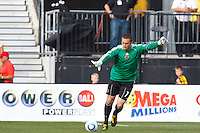 24 OCTOBER 2010:  Philadelphia Union goalkeeper Chris Seitz (1) during MLS soccer game against the Columbus Crew at Crew Stadium in Columbus, Ohio on August 28, 2010.