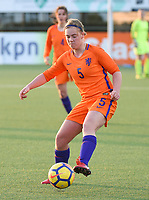 20180326 - VEEN , THE NETHERLANDS : Dutch Lotte Jansen  pictured during the UEFA Women Under 17 Elite round game between The Netherlands WU17 and Portugal WU17, on the second matchday in group 1 of the Uefa Women Under 17 elite round in The Netherlands , monday 26 th March 2018 . PHOTO SPORTPIX.BE    DIRK VUYLSTEKE