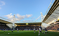A general view of the action inside Deepdale, home of Preston North End<br /> <br /> Photographer Alex Dodd/CameraSport<br /> <br /> The EFL Sky Bet Championship - Preston North End v Blackburn Rovers - Saturday 26th October 2019 - Deepdale Stadium - Preston<br /> <br /> World Copyright © 2019 CameraSport. All rights reserved. 43 Linden Ave. Countesthorpe. Leicester. England. LE8 5PG - Tel: +44 (0) 116 277 4147 - admin@camerasport.com - www.camerasport.com