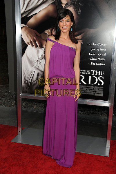"Perrey Reeves.""The Words"" Los Angeles Premiere held at Arclight Cinemas, Hollywood, California, USA..September 4th, 2012.full length purple off the shoulder dress one .CAP/ADM/BP.©Byron Purvis/AdMedia/Capital Pictures."