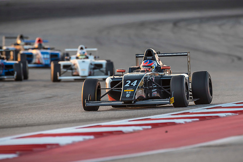 F4 US Championship<br /> Rounds 16-17-18<br /> Circuit of The Americas, Austin, TX USA<br /> Friday15 September 2017<br /> 24, Benjamin Pedersen<br /> World Copyright: Keith Daniel Rizzo<br /> LAT Images