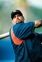 Ken Caminiti of the San Diego Padres during a game at Dodger Stadium in Los Angeles, California during the 1997 season.(Larry Goren/Four Seam Images)