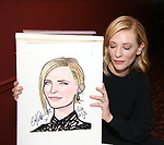 Cate Blanchett attends the Cate Blanchett and Richard Roxburgh Caricature Unveiling at Sardi's on March 14, 2017 in New York City.
