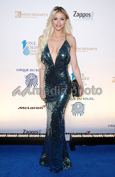 18 March 2016 - Las Vegas, Nevada - Chloe Crawford. Cirque Du Soleil presents star-studded blue carpet at Fourth Annual One Night for ONE DROP at the Cleveland Clinic Lou Ruvo Center for Brain Health. Photo Credit: MJT/AdMedia