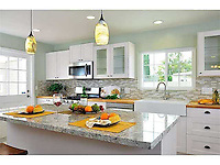 Citrus Avenue Farmhouse, Escondido. Detail of new kitchen in restored farmhouse. Jen Landau Prior, designer.