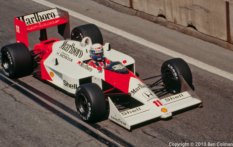 Alain Prost in the McLaren MP4-4 , Detroit 1988