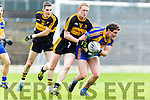 Tadhg Morley Kenmare snaps up the loose ball ahead of Colm Cooper Dr Crokes during the SFC final in Fitzgerald Stadium on Sunday