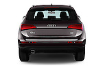 Straight rear view of 2016 Audi Q5 5 Door Suv Rear View  stock images
