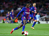 11th January 2018, Camp Nou, Barcelona, Spain; Copa del Rey football, round of 16, 2nd leg, Barcelona versus Celta Vigo; Ousmane Dembélé breaks forward at pace