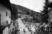 first group in the village of Flumet<br /> <br /> Stage 20: Meg&egrave;ve &rsaquo; Morzine (146.5km)<br /> 103rd Tour de France 2016