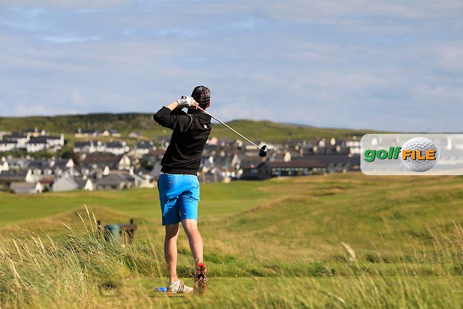 John Conroy (Bray) on the 18th tee during Round 2 of the South of Ireland Amateur Open Championship at LaHinch Golf Club on Thursday 23rd July 2015.<br /> Picture:  Golffile | Thos Caffrey
