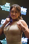 Angela Lee, fighter of One Championship - Heroes of the World poses for photos during the press conference on 04 August 2016 held at Conrad Hotel, Hong Kong, China. Photo by Marcio Machado / Power Sport Images