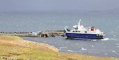 Shetland - the Whalsay ferry Linga at the Laxo Pier in the central mainland - picture by Donald MacLeod - 02.04.14 – 07702 319 738 – clanmacleod@btinternet.com – www.donald-macleod.com