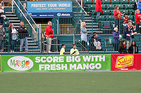Rochester, NY - Saturday May 21, 2016: Mango ad board. The Western New York Flash defeated Sky Blue FC 5-2 during a regular season National Women's Soccer League (NWSL) match at Sahlen's Stadium.