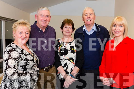 Joan Pembroke, Frank Heffernan, Claire Connelly, Martin Mitchell and Katie Clarke attending the Hawley Park Community Awards Night For Studies at the St Bridget's Centre on Thursday night last.