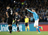 Football Soccer: UEFA Champions League Round of 16 second leg, Napoli-Real Madrid, San Paolo stadium, Naples, Italy, March 7, 2017. <br /> during the Champions League football soccer match between Napoli and Real Madrid at the San Paolo stadium, 7 March 2017. <br /> Real Madrid won 3-1 to reach the quarter-finals.<br /> UPDATE IMAGES PRESS/Isabella Bonotto