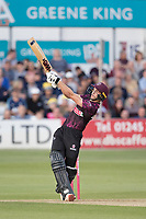 Tom Lammonby of Somerset CCC sends the ball high over the 'keeper during Essex Eagles vs Somerset, Vitality Blast T20 Cricket at The Cloudfm County Ground on 7th August 2019