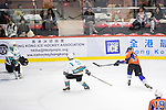 Principal Defense Jerry Cheung (r) in action during the Principal Standard League match between Principal vs Winner Medical Kings at the Mega Ice on 03 January 2017 in Hong Kong, China. Photo by Marcio Rodrigo Machado / Power Sport Images