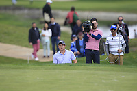 Paul Dunne (IRL) in a bunker on the 10th during Round 3 of the Open de Espana 2018 at Centro Nacional de Golf on Saturday 14th April 2018.<br /> Picture:  Thos Caffrey / www.golffile.ie<br /> <br /> All photo usage must carry mandatory copyright credit (&copy; Golffile | Thos Caffrey)