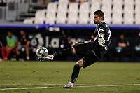22nd June 2020; Estadio Municipal de Butarque, Madrid, Spain; La Liga Football, Club Deportivo Leganes versus Granada; Goalkeeper Ivan Cuellar (CD Leganes) plays the ball long upfield