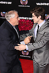 GARRY MARSHALL, CARTER JENKINS. Red carpet arrivals to the star-studded world premiere of Valentine's Day at Grauman's Chinese Theater in Hollywood, California, USA. February 8, 2010.