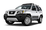 Stock pictures of low aggressive front three quarter view of2014 Nissan Xterra S 5 Door Suv Low Aggressive