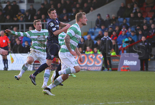 24.01.2015.  Dingwall, Scotland. Scottish Premier League. Ross County versus Celtic. Kris Commons scores the only goal of the game with a deflected shot