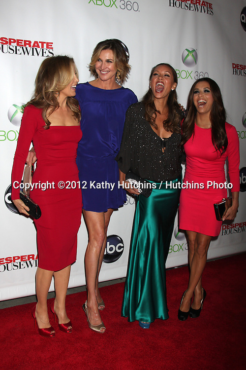 "LOS ANGELES - APR 29:  Felicity Huffman, Brenda Strong, Vanessa L. Williams, Eva Longoria arrives at the ""Desperate Housewives"" Wrap Party at W Hollywood Hotel on April 29, 2012 in Los Angeles, CA"