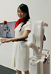 October 4, 2016, Chiba, Japan - Japanese auto parts maker Denso, Japanese auto giant Toyota motor's subsidiary displays a robotic arm to support surgeons' arm at the CEATEC Japan 2016 in Chiba, suburban Tokyo on Tuesday, October 4, 2016. Asia's largest electronics trade show CEATEC started here through October 7.   (Photo by Yoshio Tsunoda/AFLO) LWX -ytd-