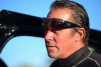 Oct. 27, 2012; Las Vegas, NV, USA: NHRA funny car driver Jeff Diehl during qualifying for the Big O Tires Nationals at The Strip in Las Vegas. Mandatory Credit: Mark J. Rebilas-