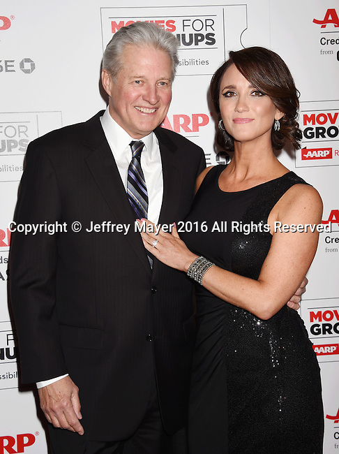 BEVERLY HILLS, CA - FEBRUARY 08: Actor Bruce Boxleitner and Verena King attend AARP's Movie For GrownUps Awards at the Regent Beverly Wilshire Four Seasons Hotel on February 8, 2016 in Beverly Hills, California.