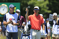 PAul Casey (ENG) and John Mclaren on the 7th tee during Saturday's Round 3 of the 118th U.S. Open Championship 2018, held at Shinnecock Hills Club, Southampton, New Jersey, USA. 16th June 2018.<br /> Picture: Eoin Clarke | Golffile<br /> <br /> <br /> All photos usage must carry mandatory copyright credit (&copy; Golffile | Eoin Clarke)