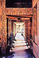 Frank Lloyd Wright: Ennis-Brown House built of textile block. Mayan style. Built in 1924.