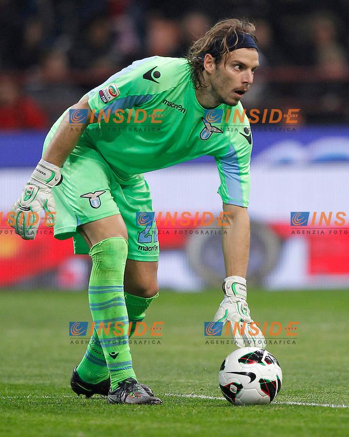"""Federico Marchetti Lazio, Milano 2/3/2013 .Stadio """"S.Siro"""".Football Calcio 2012/2013 Serie A.Milan Vs Lazio.Foto Marco Bertorello Insidefoto"""