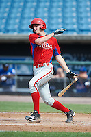 Jonah Heim #7 of Amherst Central High School in Amherst, New York playing for the Philadelphia Phillies scout team during the East Coast Pro Showcase at Alliance Bank Stadium on August 2, 2012 in Syracuse, New York.  (Mike Janes/Four Seam Images)