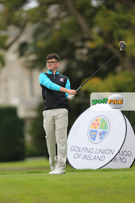 Ciaran Vaughan (Limerick) during the AIG Senior Cup Final at the 2017 AIG Cups and Shields at Carton House. 23/09/2017.<br /> <br /> Picture: Golffile | Jenny Matthews<br /> <br /> <br /> All photo usage must carry mandatory copyright credit (&copy; Golffile | Jenny Matthews)
