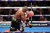 24th March 2018, O2 Arena, London, England; Matchroom Boxing, WBC Silver Heavyweight Title, Dillian Whyte versus Lucas Browne; Dillian Whyte lands the knock out punch to Lucas Browne in the sixth round