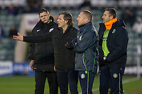 Wycombe manager Gareth Ainsworth complains to the fourth official during the Sky Bet League 2 match between Plymouth Argyle and Wycombe Wanderers at Home Park, Plymouth, England on 26 December 2016. Photo by Mark  Hawkins / PRiME Media Images.