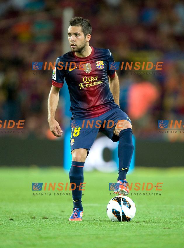 Jordi Alba (Barcelone). .Barcellona 19/08/2012.Football Calcio 2012/2013.Barcelona vs Real Sociedad.Liga spagnola.foto Insidefoto .Italy Only