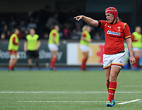 Wales' Carys Phillips gives instructions during the game <br /> <br /> Photographer Ian Cook/CameraSport<br /> <br /> Women's Six Nations Round 4 - Wales Women v Ireland Women - Saturday 11th March 2017 - Cardiff Arms Park - Cardiff<br /> <br /> World Copyright &copy; 2017 CameraSport. All rights reserved. 43 Linden Ave. Countesthorpe. Leicester. England. LE8 5PG - Tel: +44 (0) 116 277 4147 - admin@camerasport.com - www.camerasport.com