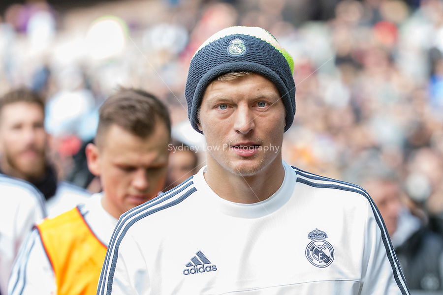 Melbourne, 17 July 2015 - Toni Kroos of Real Madrid leaves the ground after a training session at the Melbourne Cricket Ground ahead of their International Champions Cup match against AS Roma tomorrow in Melbourne, Australia. Photo Sydney Low/AsteriskImages.com