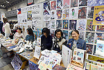 November 23, 2014, Tokyo, Japan - Manga artists from the Philippines display their works during the International Manga Festival in Tokyo on Sunday, November 23, 2014. The manga festa provides a platform within Japan where people who have an interest in manga culture can freely exchange their opinions and ideas. (Photo by Natsuki Sakjai/AFLO) AYF -mis-